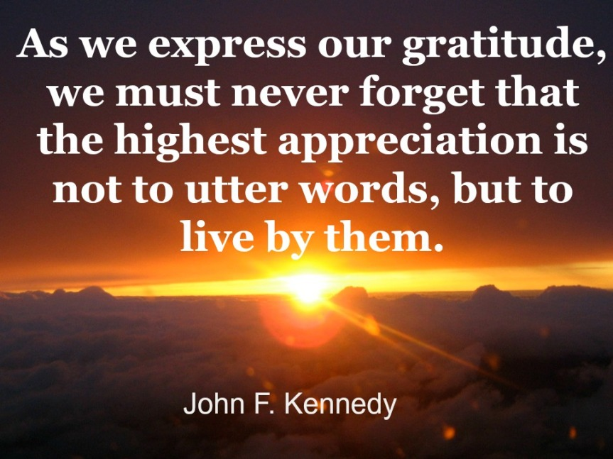 JFK Gratitude